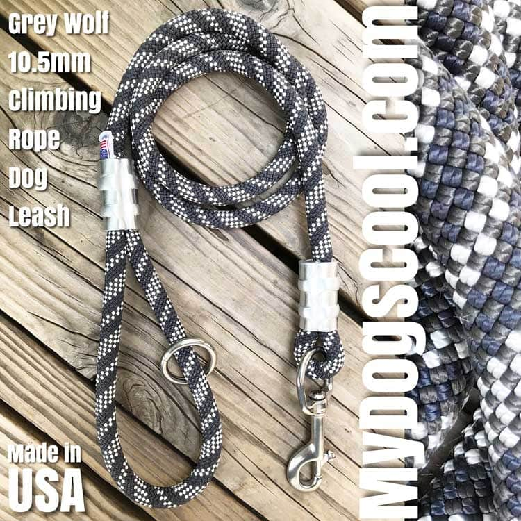 MyDogsCool Grey Wolf Climbing Rope Dog Leash