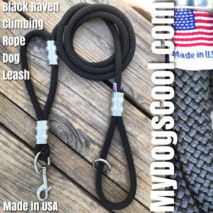 Black Double Handle Dog Leash