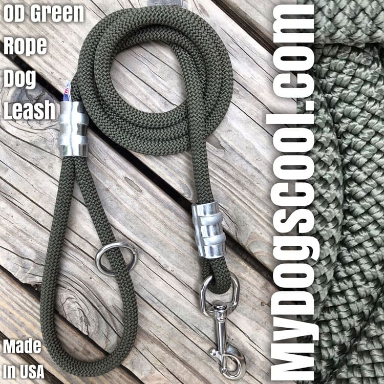 MyDogsCool OD Green Climbing Rope Dog Leash