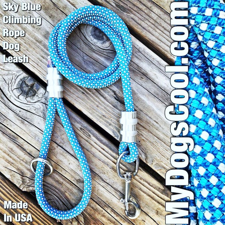 Sky Blue Climbing Rope Dog Leash - MyDogsCool.com